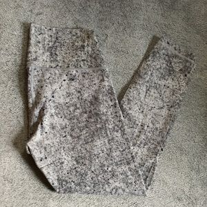 NWOT Lululemon High Waist Speckled Gray Legging